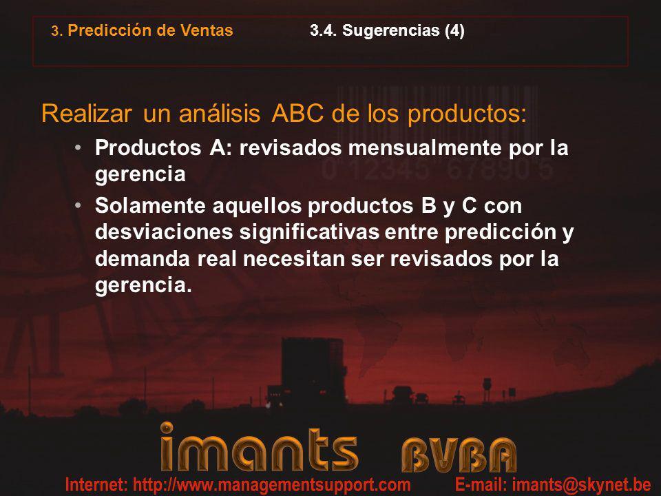 Realizar un análisis ABC de los productos: