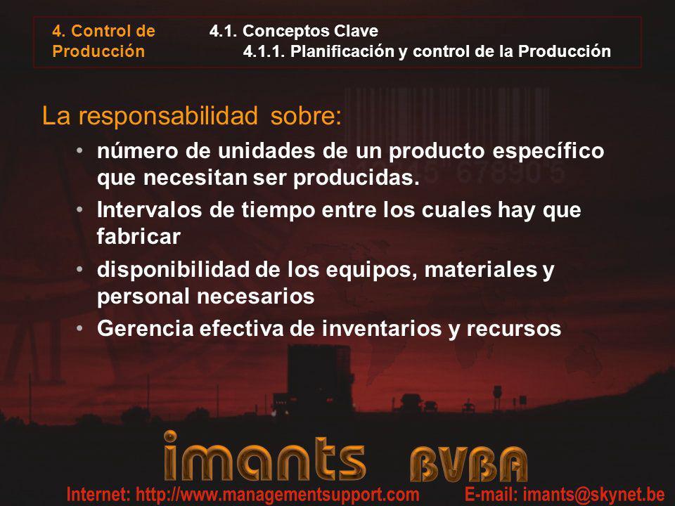 4.1. Conceptos Clave 4.1.1. Planificación y control de la Producción