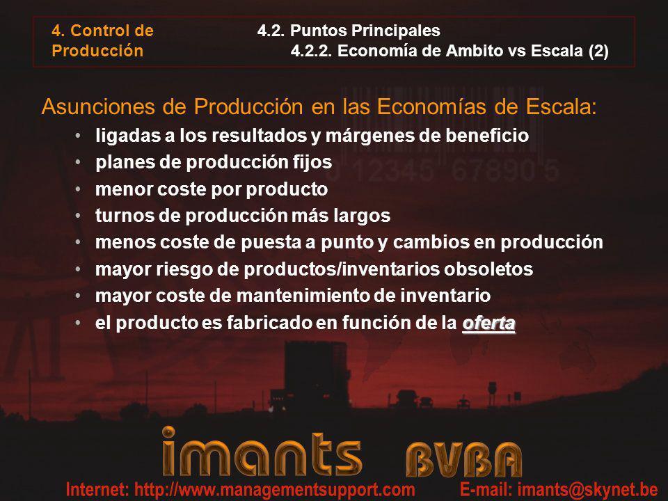 4.2. Puntos Principales 4.2.2. Economía de Ambito vs Escala (2)