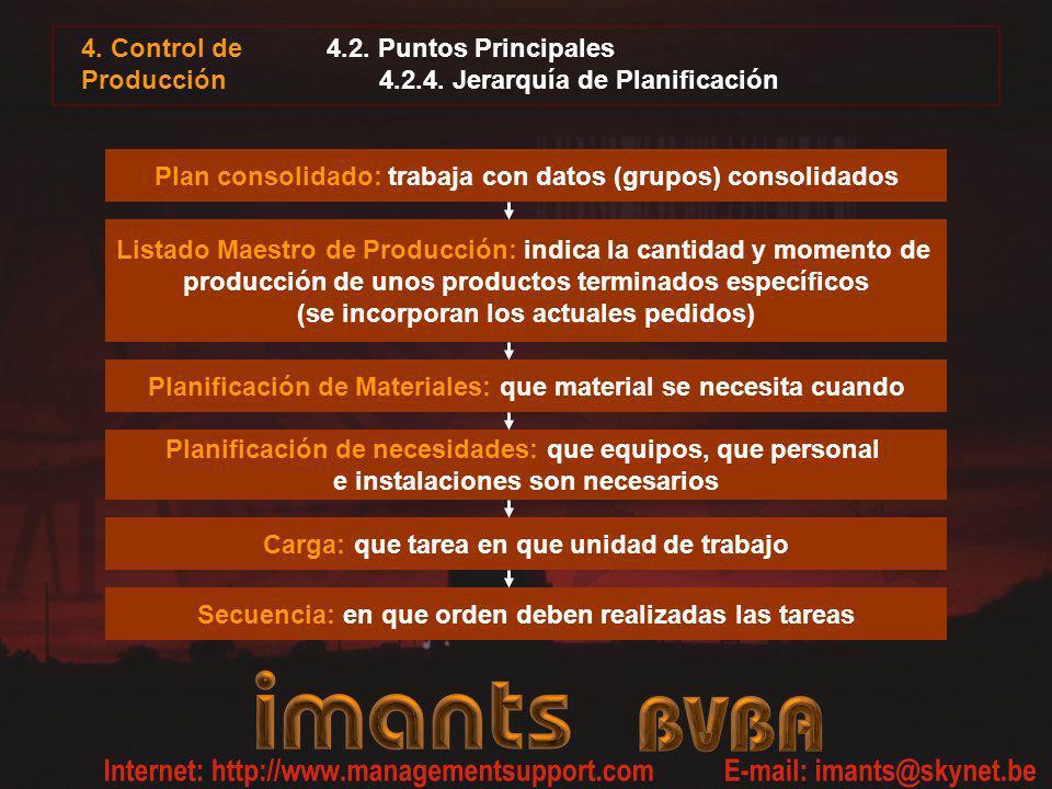 4.2. Puntos Principales 4.2.4. Jerarquía de Planificación