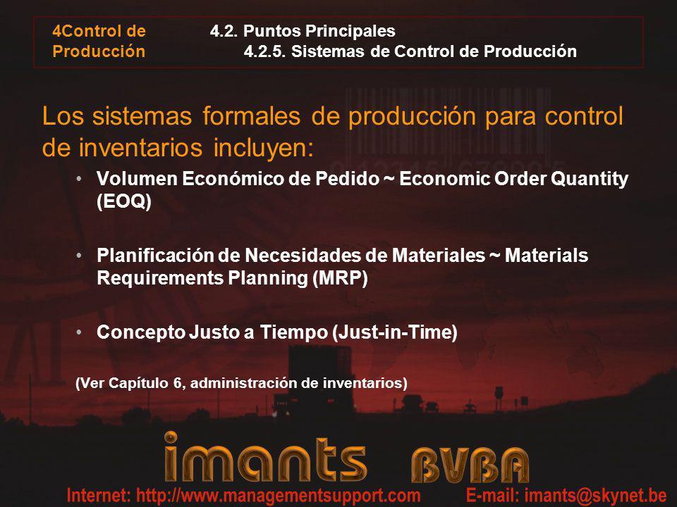 4.2. Puntos Principales 4.2.5. Sistemas de Control de Producción