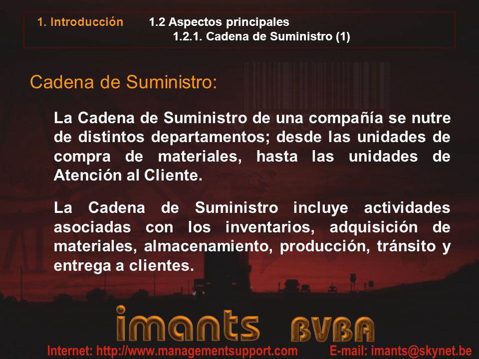 1.2 Aspectos principales 1.2.1. Cadena de Suministro (1)