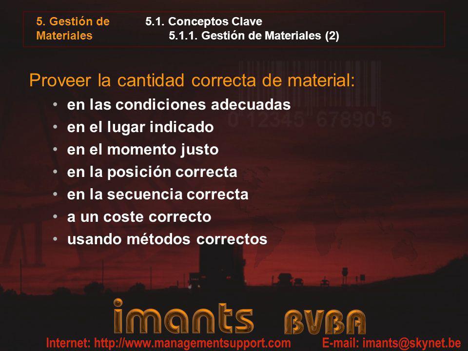 5.1. Conceptos Clave 5.1.1. Gestión de Materiales (2)