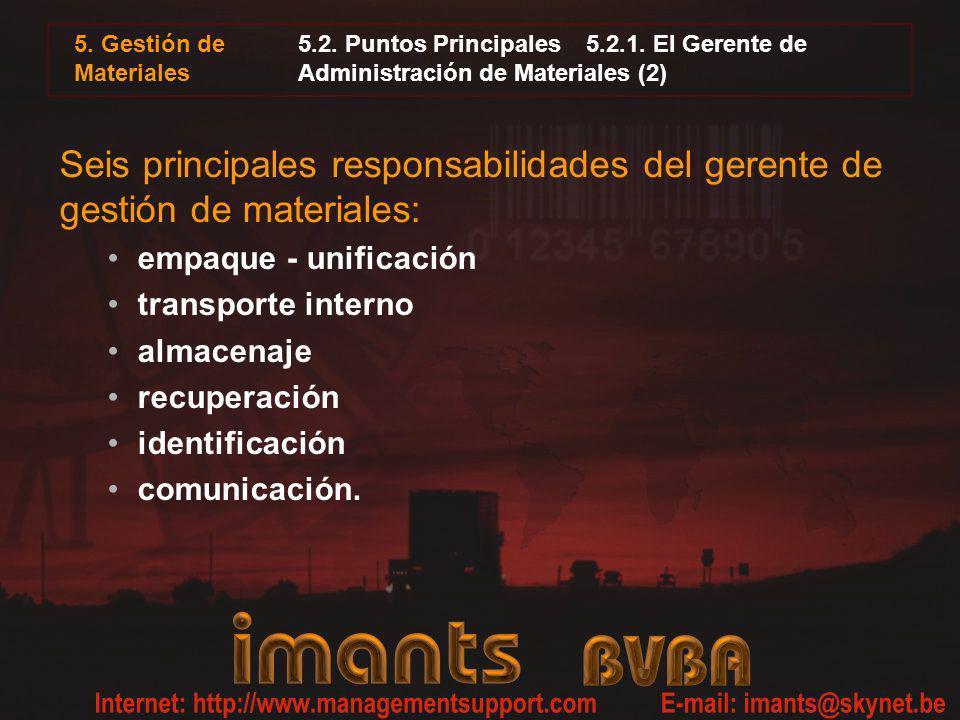 5. Gestión de Materiales5.2. Puntos Principales 5.2.1. El Gerente de Administración de Materiales (2)