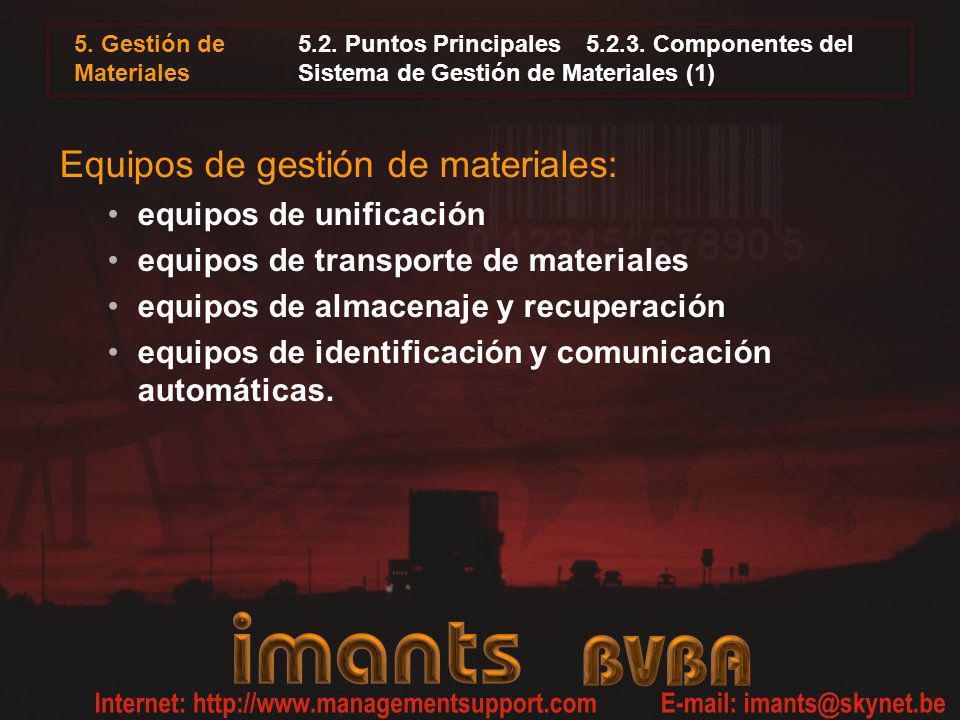 Equipos de gestión de materiales: