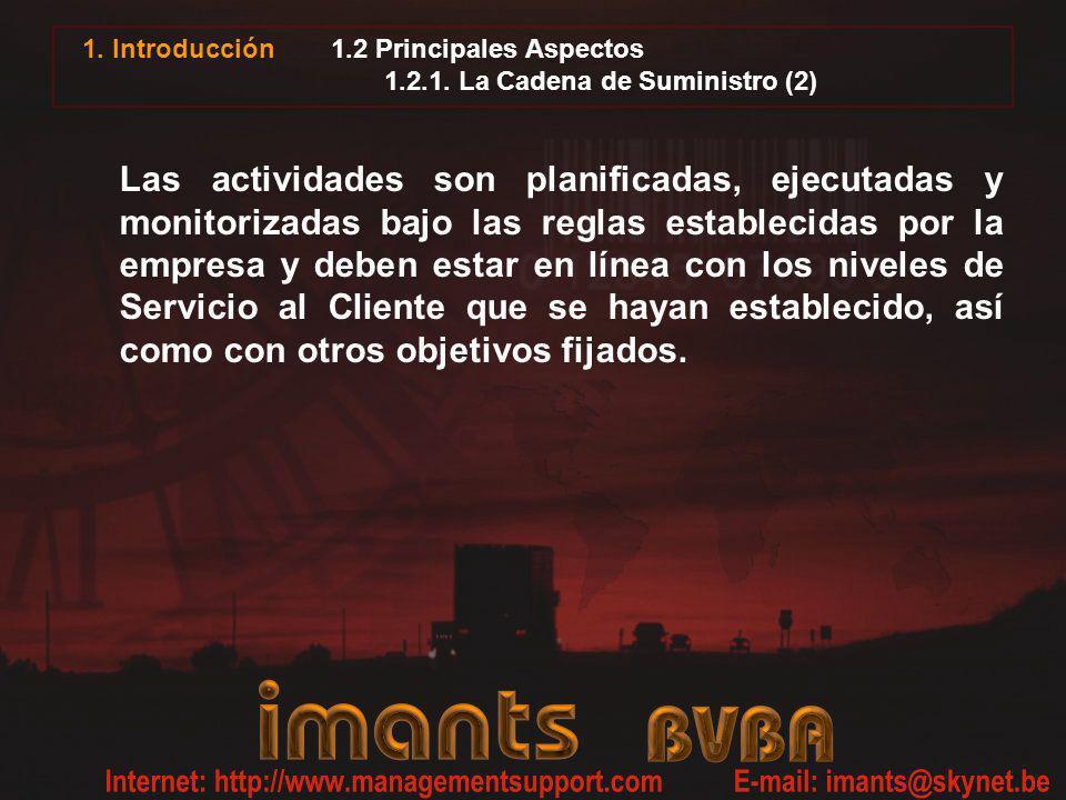 1.2 Principales Aspectos 1.2.1. La Cadena de Suministro (2)