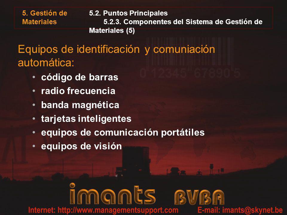 Equipos de identificación y comuniación automática: