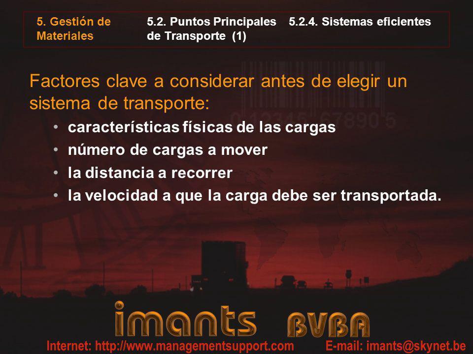 5.2. Puntos Principales 5.2.4. Sistemas eficientes de Transporte (1)