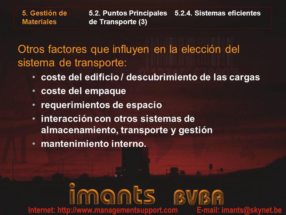 5.2. Puntos Principales 5.2.4. Sistemas eficientes de Transporte (3)