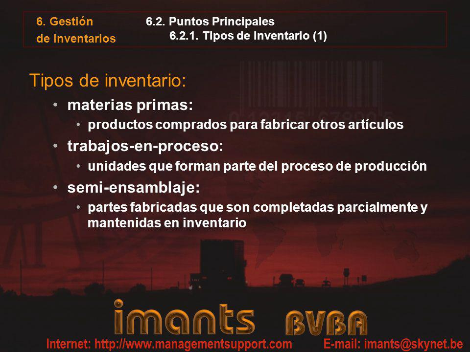 6.2. Puntos Principales 6.2.1. Tipos de Inventario (1)