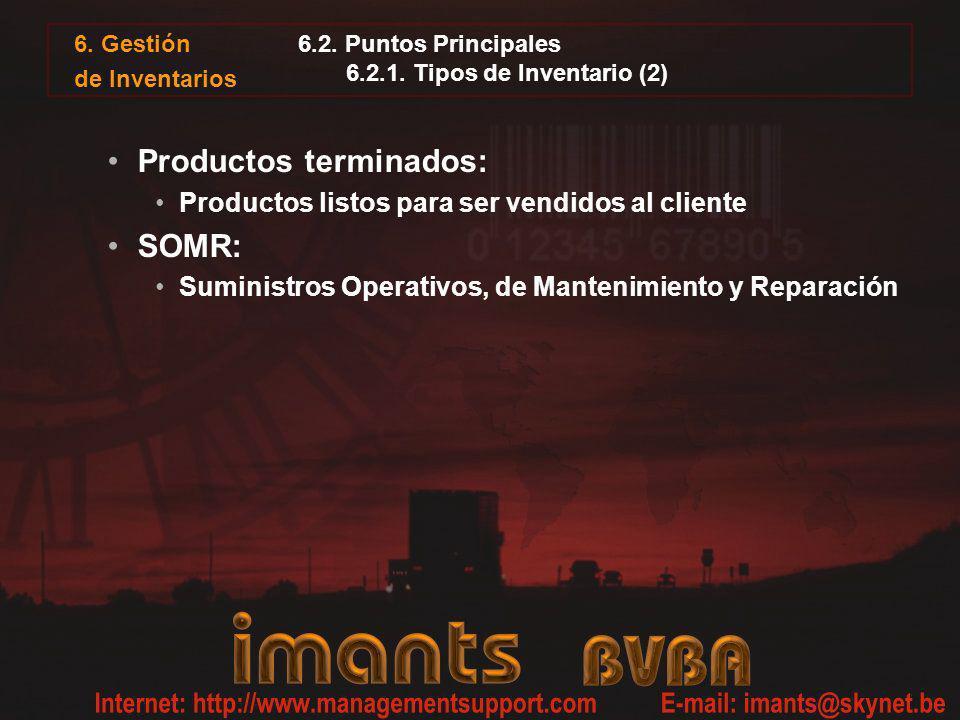 6.2. Puntos Principales 6.2.1. Tipos de Inventario (2)
