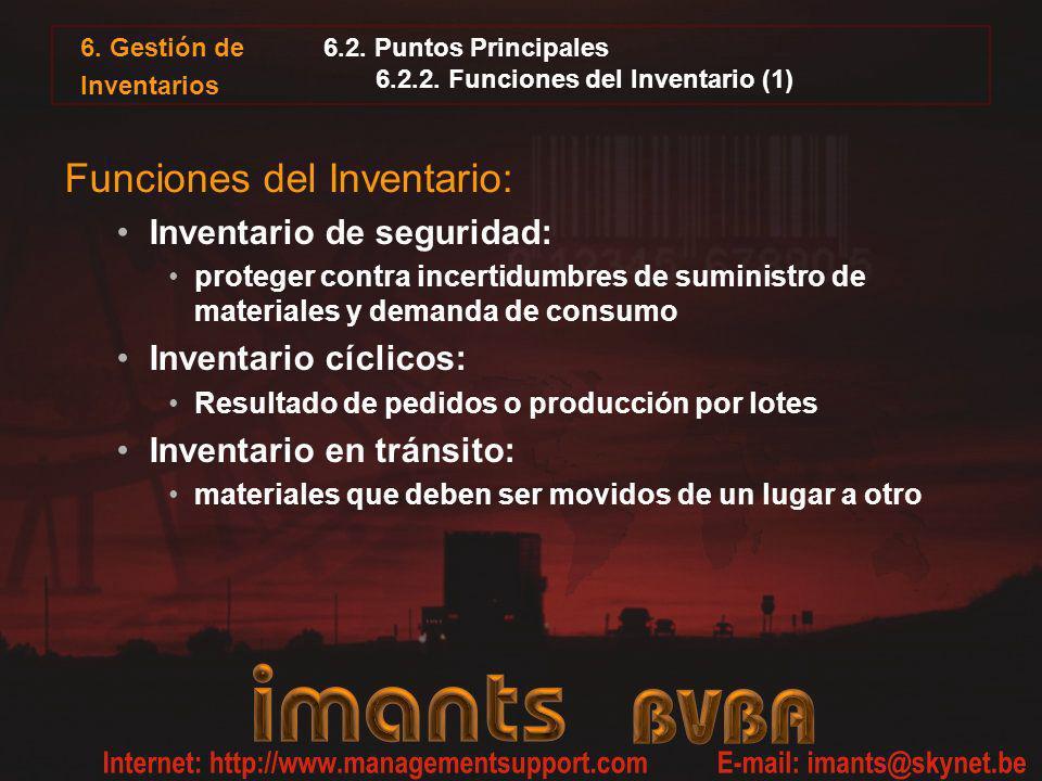 6.2. Puntos Principales 6.2.2. Funciones del Inventario (1)