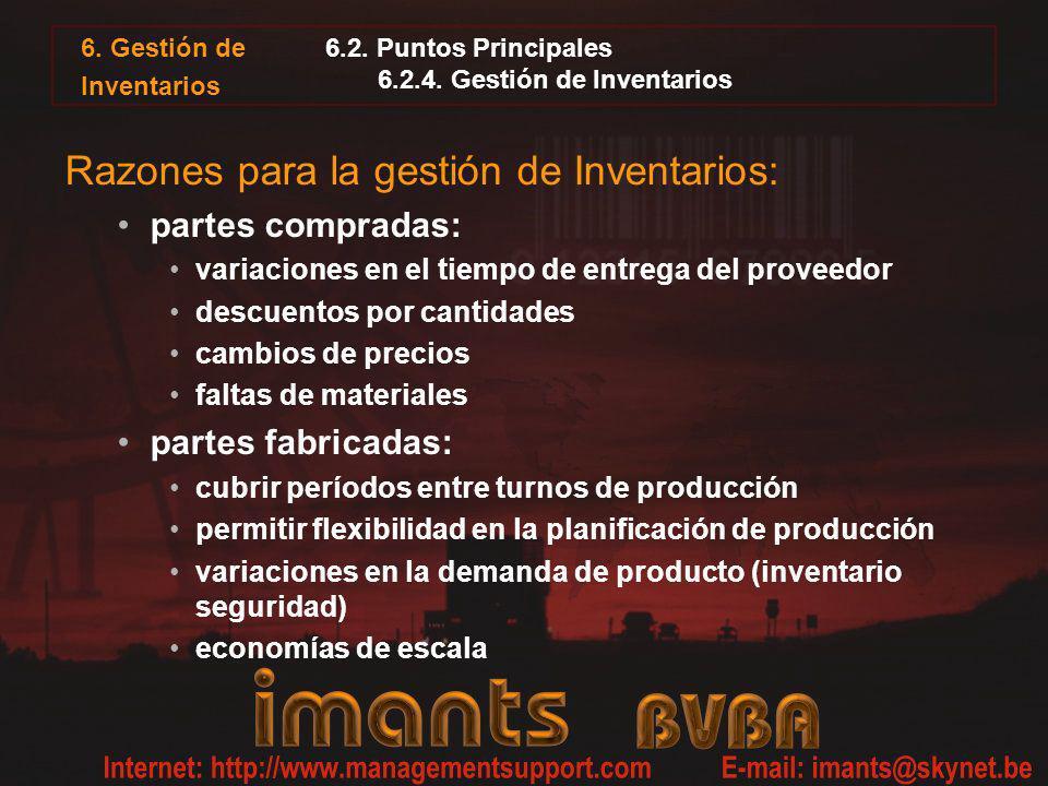 6.2. Puntos Principales 6.2.4. Gestión de Inventarios