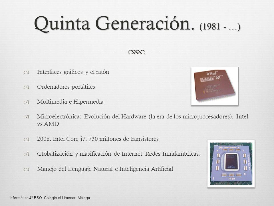 Quinta Generación. (1981 - …)
