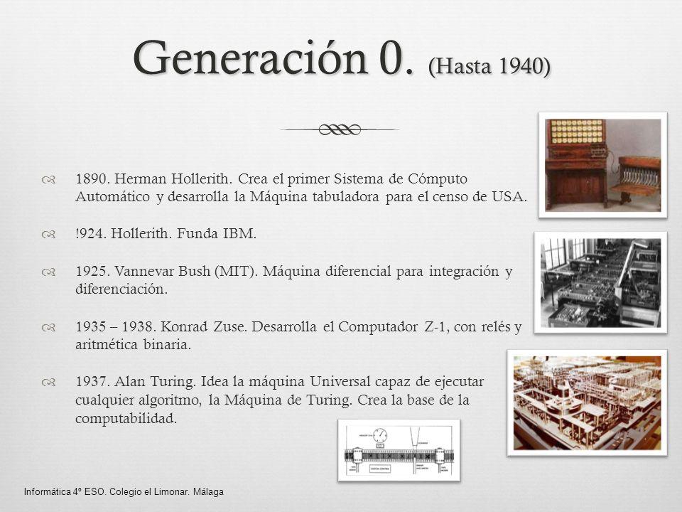 Generación 0. (Hasta 1940)