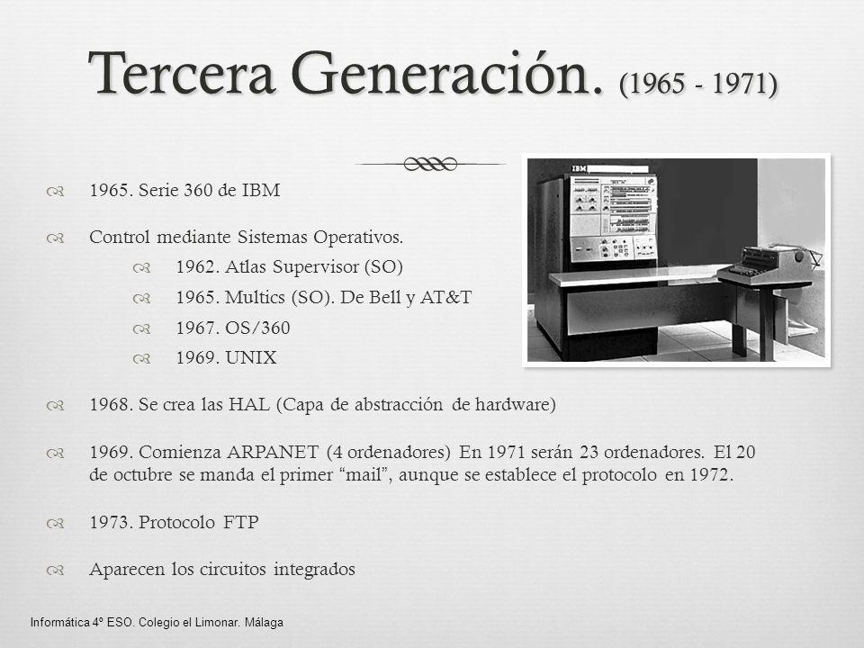 Tercera Generación. (1965 - 1971)