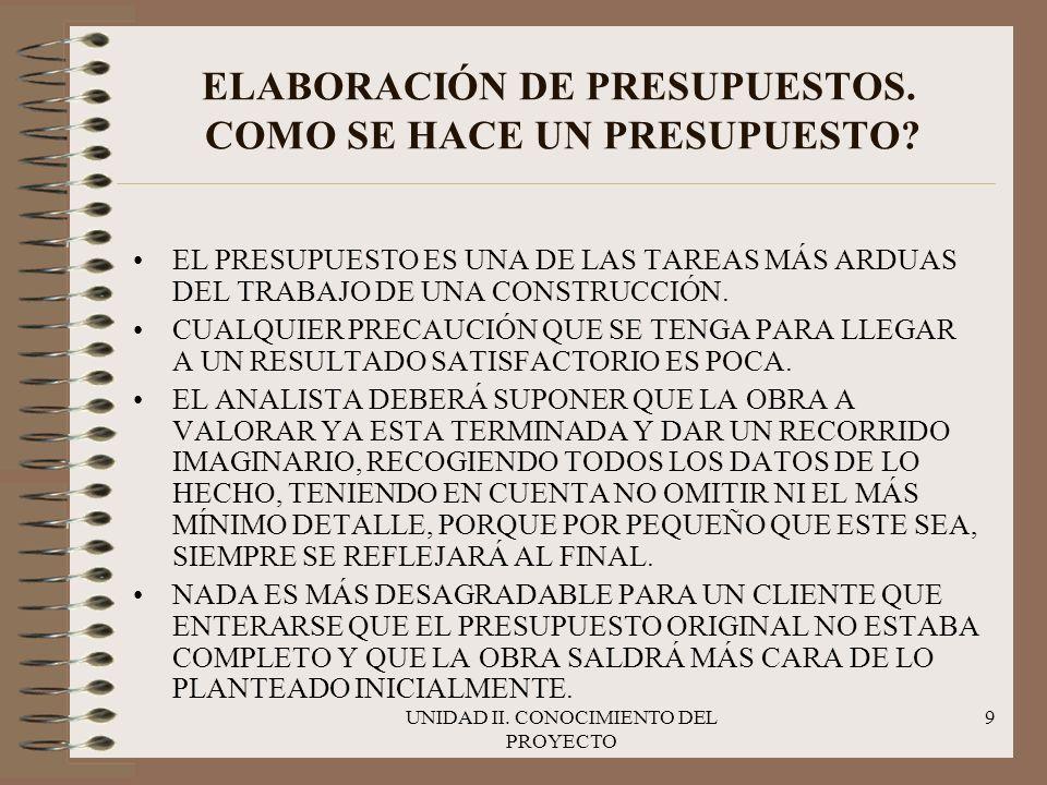 ELABORACIÓN DE PRESUPUESTOS. COMO SE HACE UN PRESUPUESTO