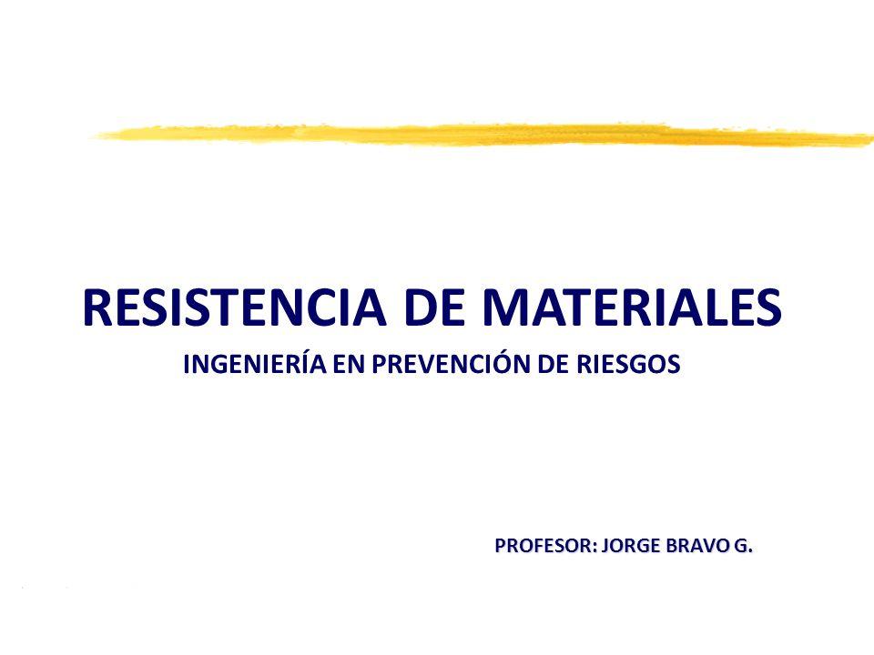 RESISTENCIA DE MATERIALES INGENIERÍA EN PREVENCIÓN DE RIESGOS