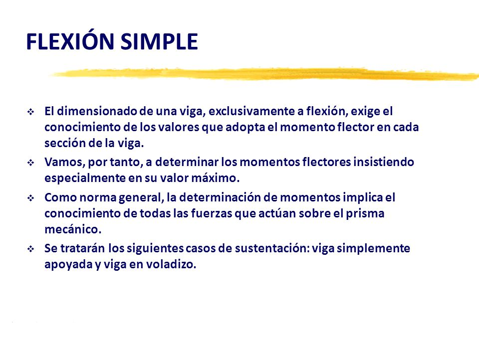 FLEXIÓN SIMPLE