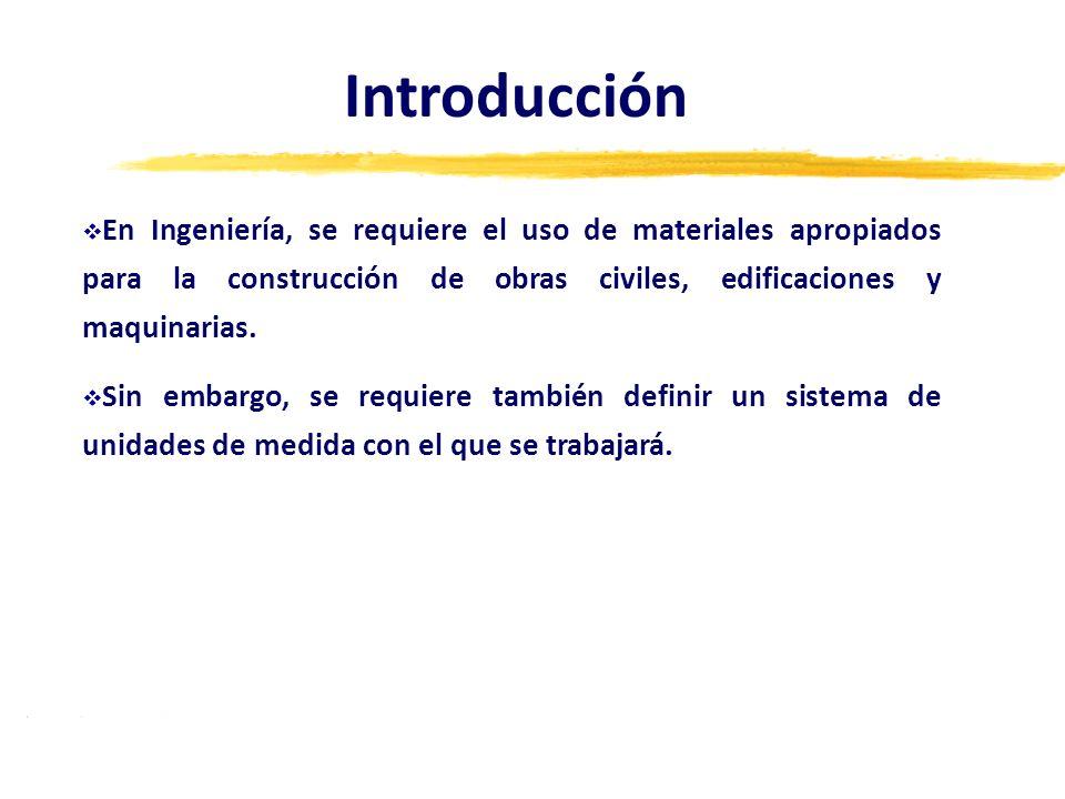 Introducción En Ingeniería, se requiere el uso de materiales apropiados para la construcción de obras civiles, edificaciones y maquinarias.