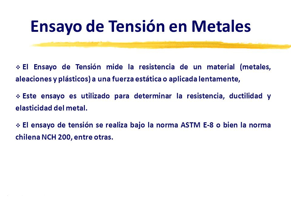 Ensayo de Tensión en Metales