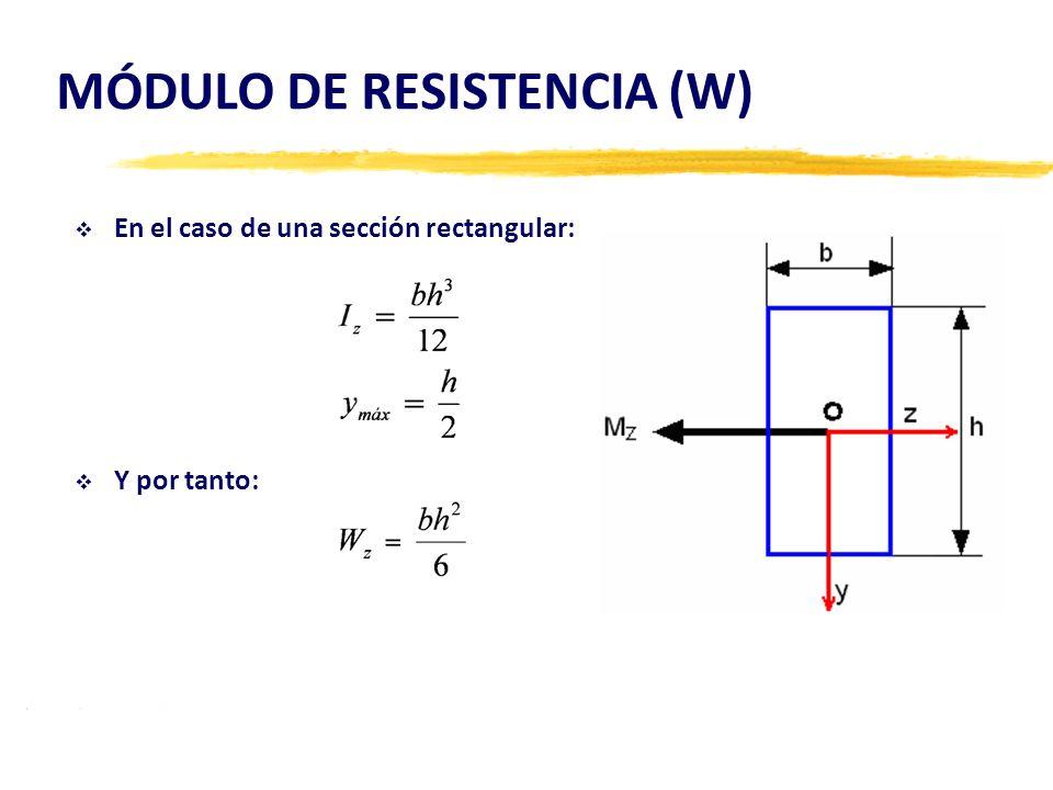 MÓDULO DE RESISTENCIA (W)