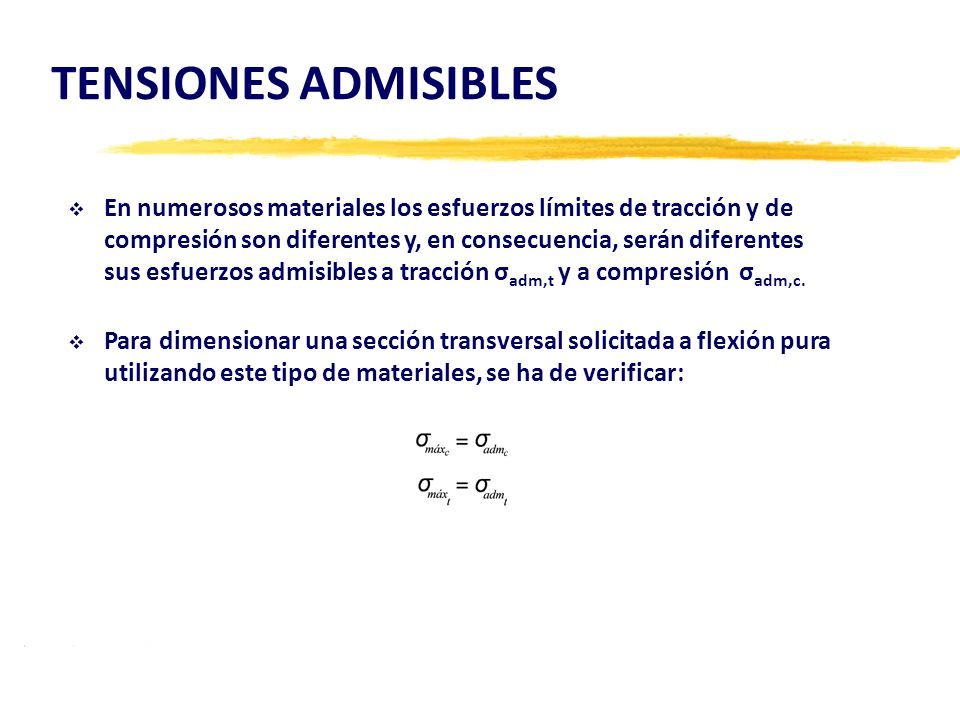 TENSIONES ADMISIBLES