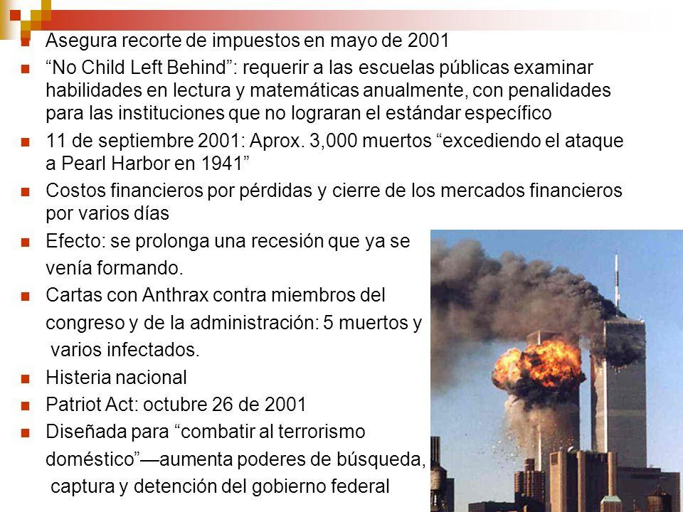 Asegura recorte de impuestos en mayo de 2001