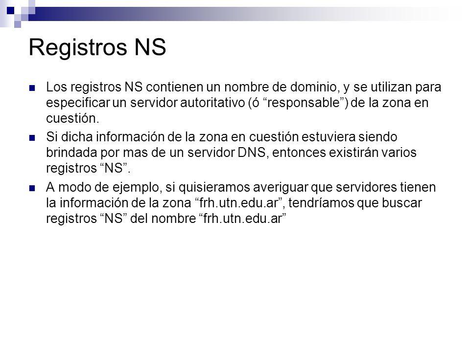 Registros NS