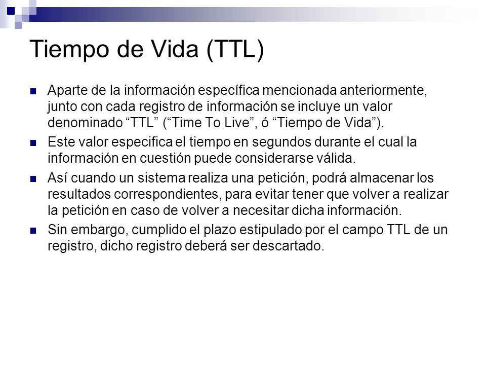 Tiempo de Vida (TTL)