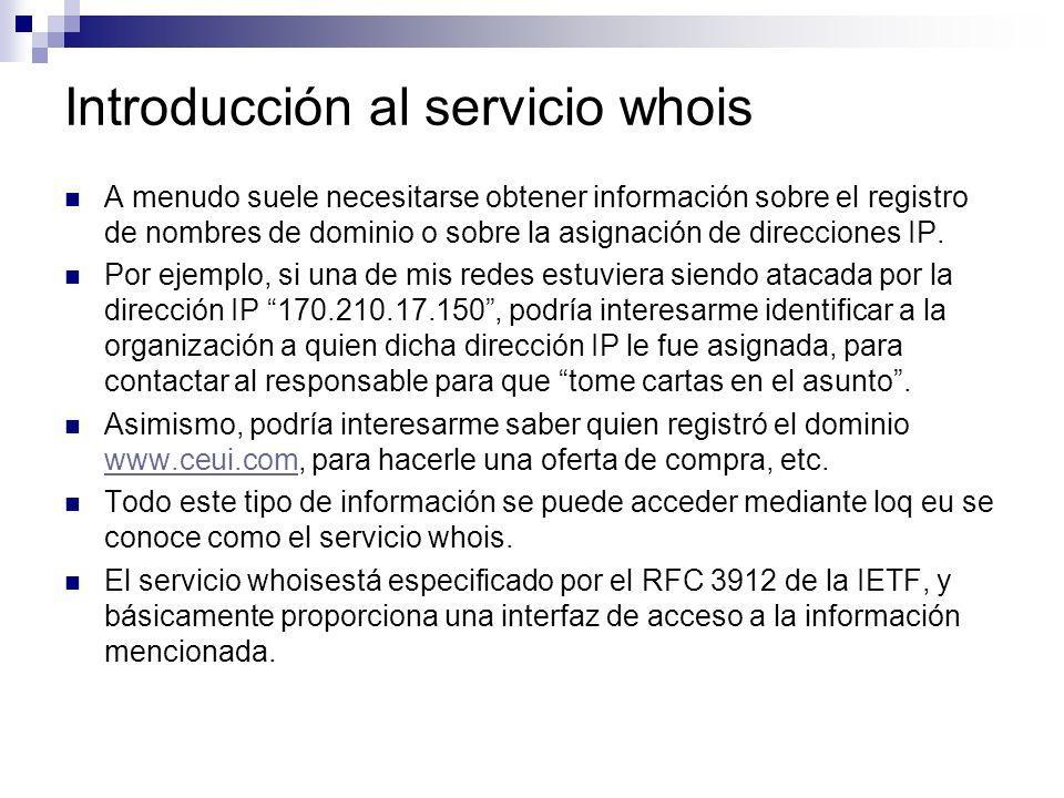 Introducción al servicio whois
