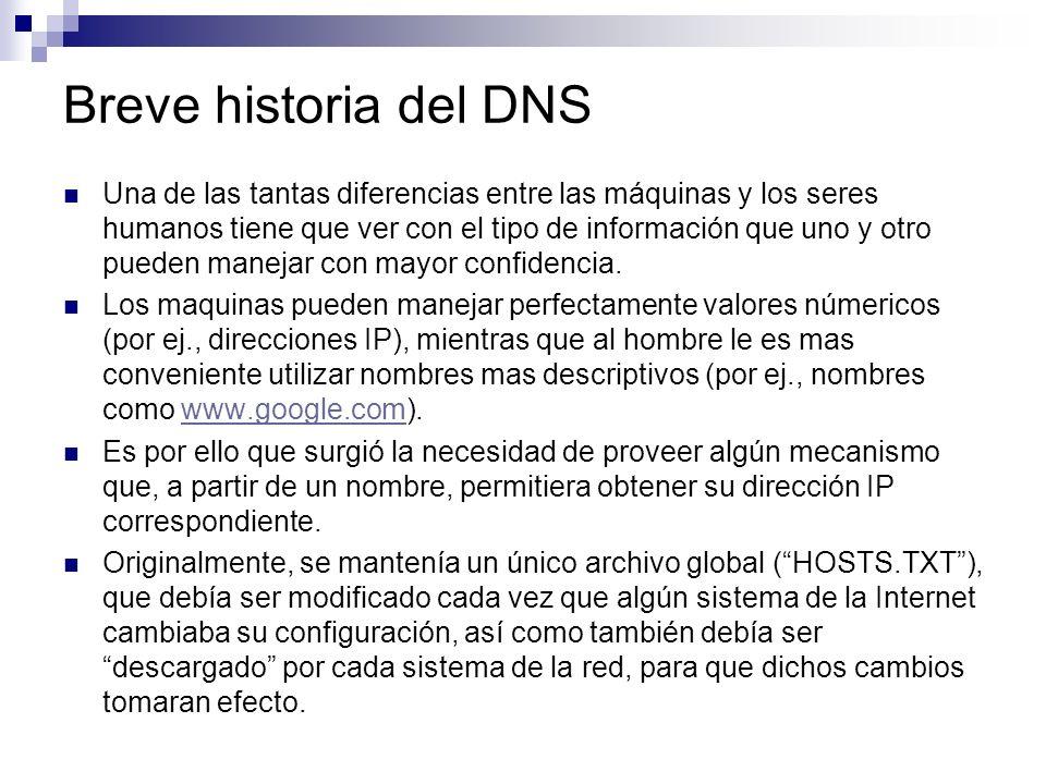 Breve historia del DNS