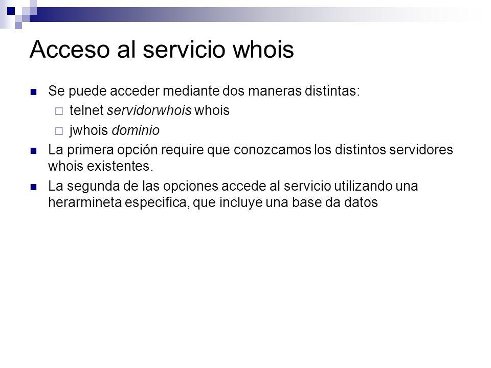 Acceso al servicio whois