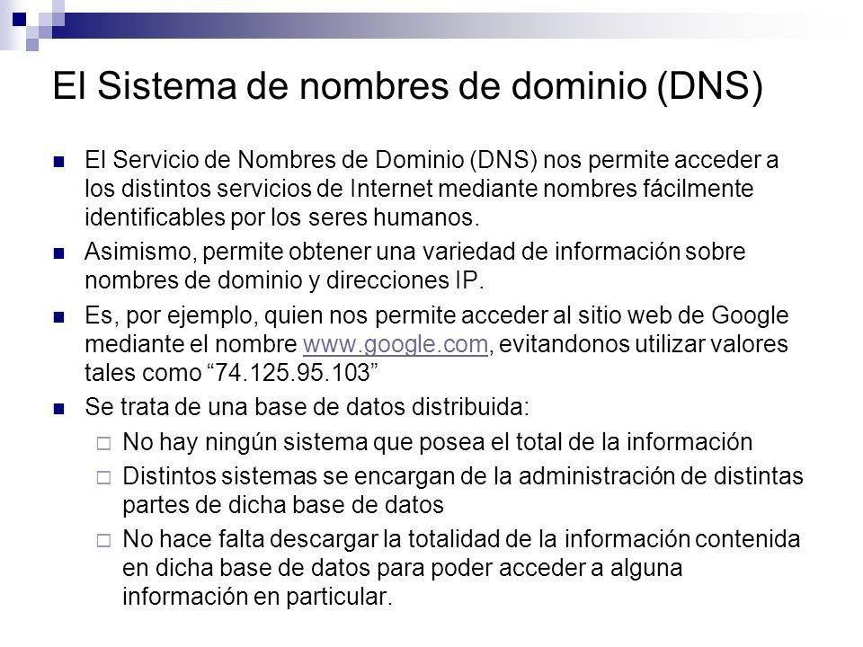 El Sistema de nombres de dominio (DNS)