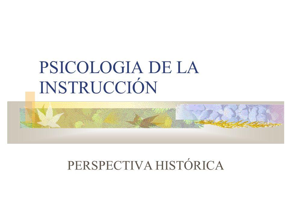 PSICOLOGIA DE LA INSTRUCCIÓN