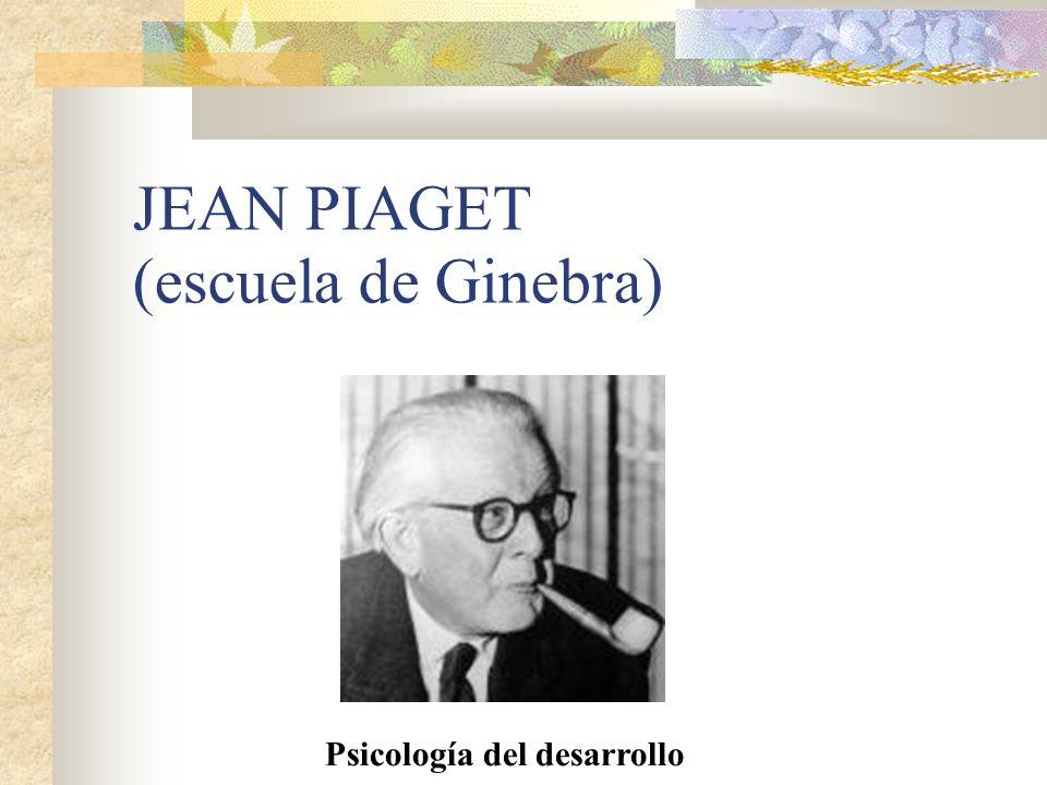 JEAN PIAGET (escuela de Ginebra)