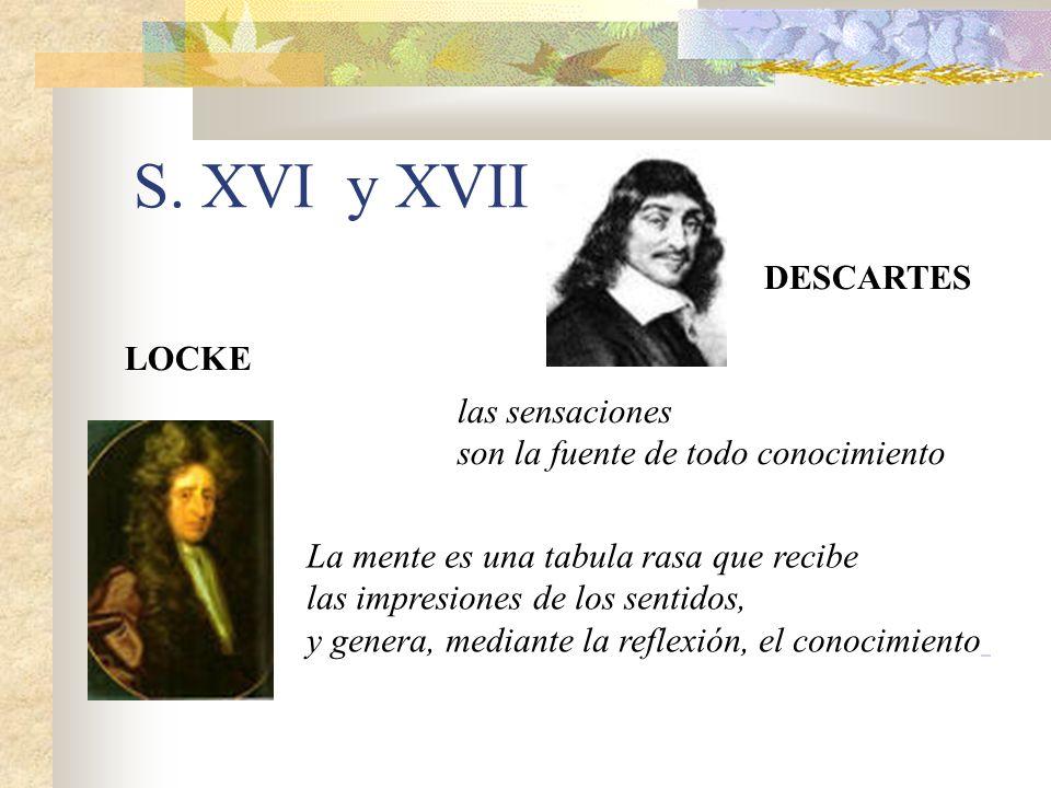 S. XVI y XVII DESCARTES LOCKE las sensaciones