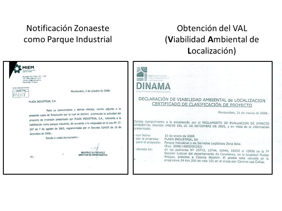 Obtención del VAL (Viabilidad Ambiental de Localización)