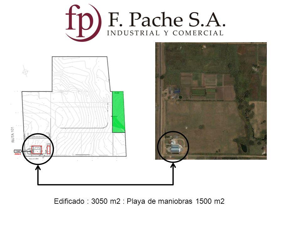 Edificado : 3050 m2 : Playa de maniobras 1500 m2