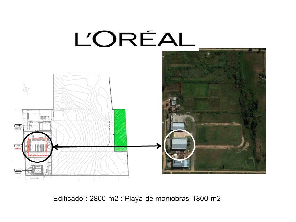 Edificado : 2800 m2 : Playa de maniobras 1800 m2