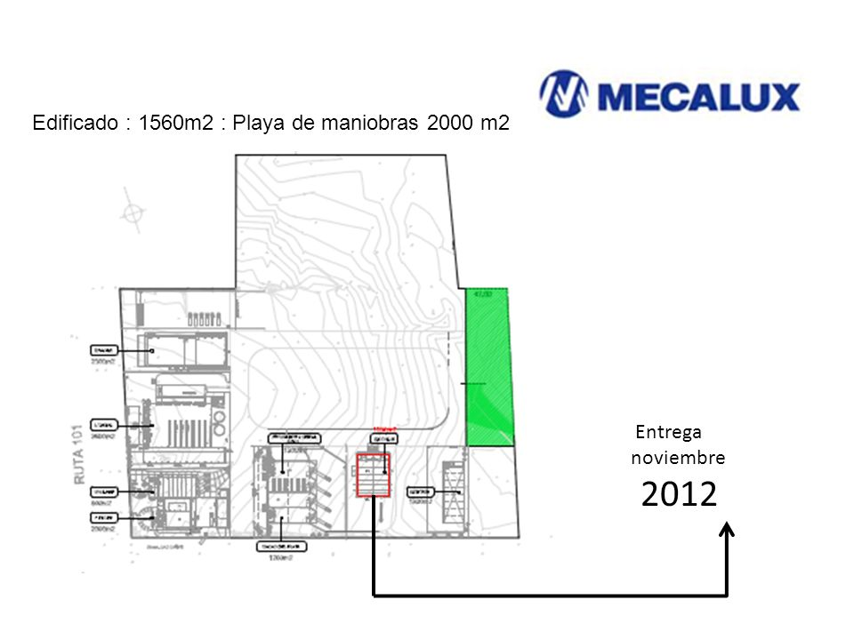 Edificado : 1560m2 : Playa de maniobras 2000 m2