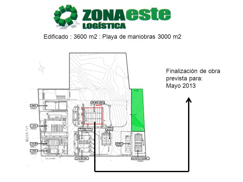 Edificado : 3600 m2 : Playa de maniobras 3000 m2