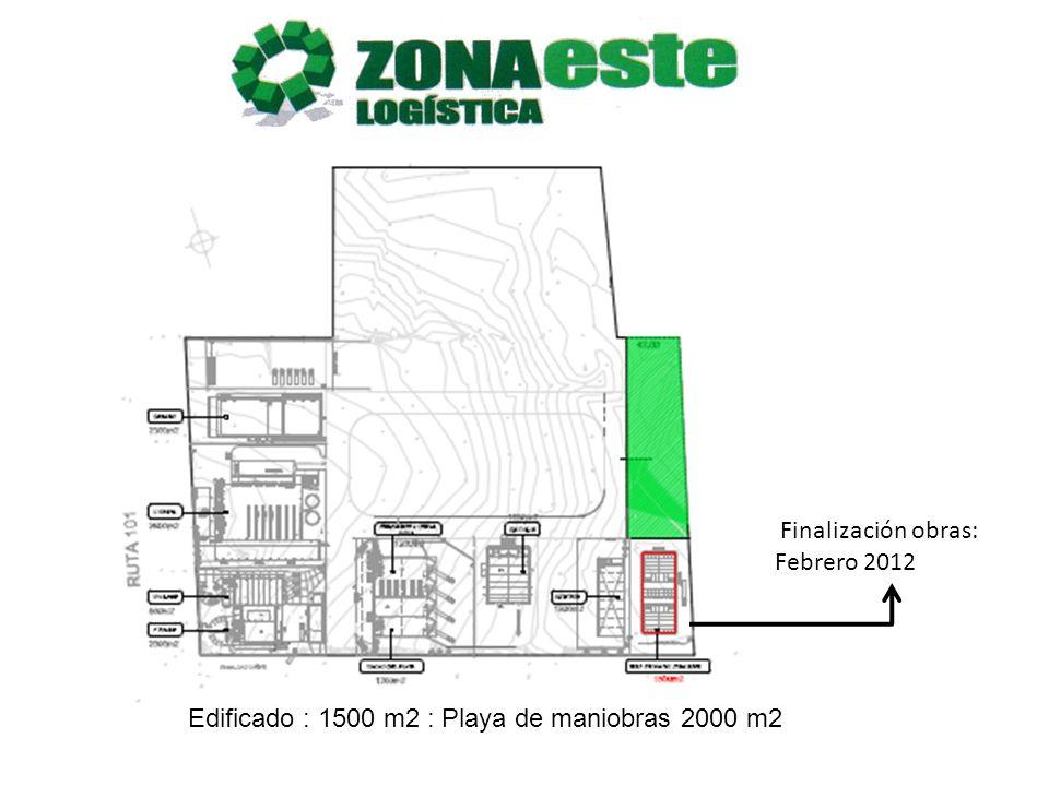 Finalización obras: Febrero 2012 Edificado : 1500 m2 : Playa de maniobras 2000 m2
