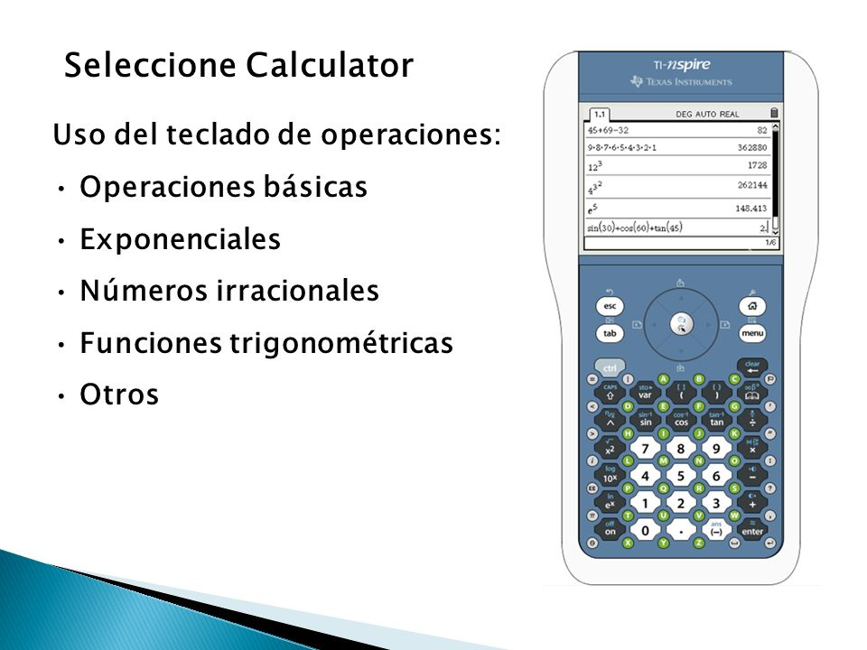 Seleccione Calculator