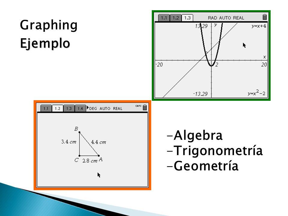 Graphing Ejemplo Algebra Trigonometría Geometría