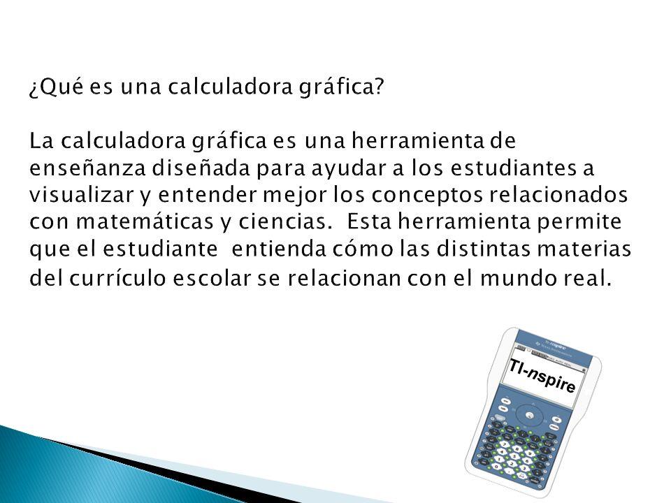 ¿Qué es una calculadora gráfica