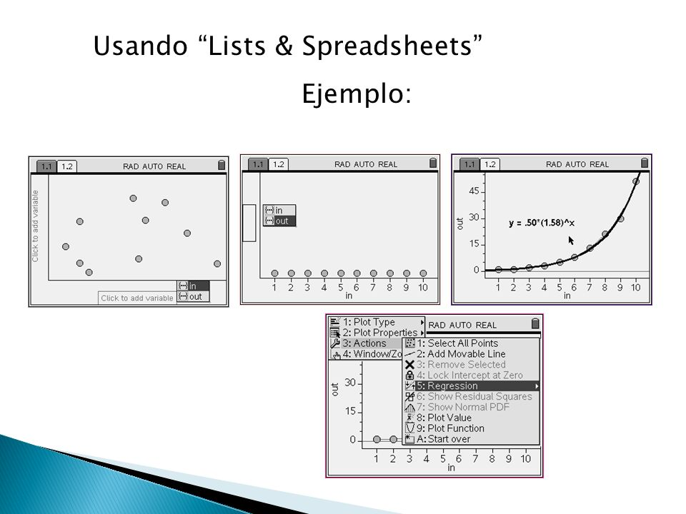 Usando Lists & Spreadsheets