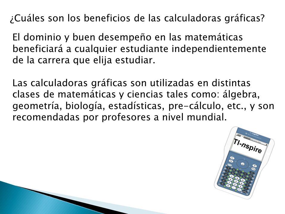 ¿Cuáles son los beneficios de las calculadoras gráficas