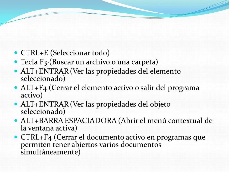 CTRL+E (Seleccionar todo)