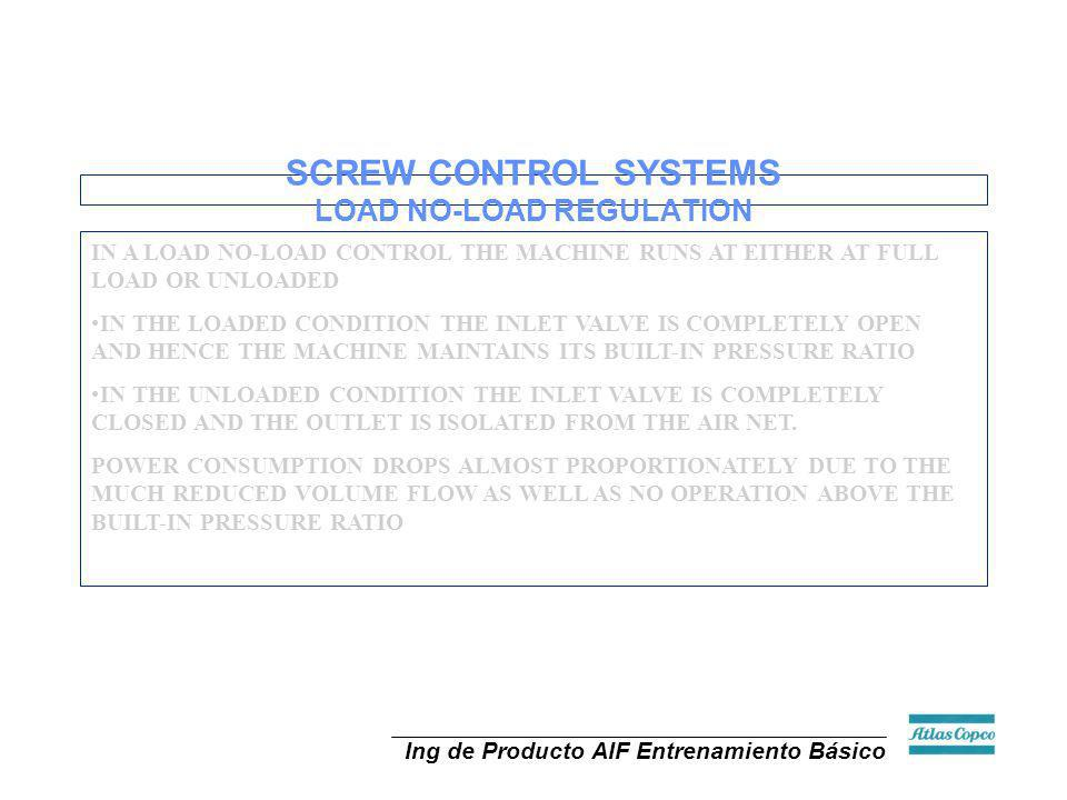 SCREW CONTROL SYSTEMS LOAD NO-LOAD REGULATION
